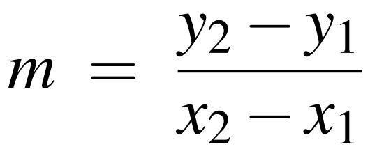 slope intercept form y2-y1 x2-x1  CPTR 8 Fundamentals of Programming Lab